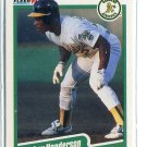 RICKEY HENDERSON 1990 Fleer #10 Oakland A's