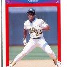 RICKEY HENDERSON 1990 Score Superstar #90 Oakland A's
