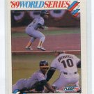 RICKEY HENDERSON 1990 Score World Series #11 Oakland A's