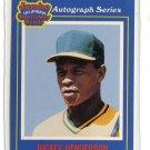 RICKEY HENDERSON 1990 California Jumbo Sunflower Seeds #13 Oakland A's
