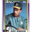 RICKEY HENDERSON 1990 Topps #450 Oakland A's