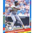 RICKEY HENDERSON 1991 Donruss #53 Oakland A's