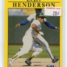 RICKEY HENDERSON 1991 Fleer #10 Oakland A's