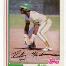 RICKEY HENDERSON 1982 Topps #610 Oakland A's