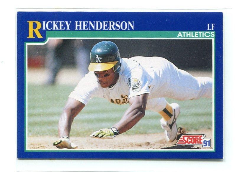 RICKEY HENDERSON 1991 Score #10 Oakland A's