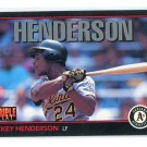 RICKEY HENDERSON 1993 Leaf Triple Play #219 Oakland A's
