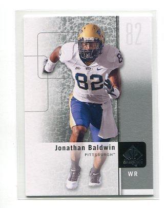 JON JONATHAN BALDWIN 2011 SP Authentic #96 ROOKIE Kansas City KC Chiefs PITT PANTHERS