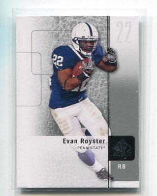 EVAN ROYSTER 2011 SP Authentic #62 ROOKIE Penn State Nittany Lions REDSKINS