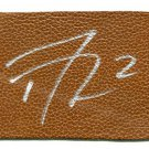 DERRICK WILLIAMS Penn State Nittany Lions FOOTBALL LEATHER SWATCH 3x5 - AUTO Autograph DETROIT Lions