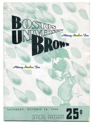 COACH JOE PATERNO College Football Game Program BROWN vs. BOSTON COLLEGE - October 26, 1946