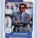COACH JOE PATERNO 1988 Penn State Second Mile College Card NITTANY LIONS