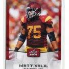 MATT KALIL 2012 Leaf Draft #33 ROOKIE Southern Cal USC Trojans VIKINGS OT