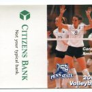 CARA SMITH 2002 Penn State Women's Volleyball Schedule FULL SIZED
