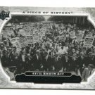 CIVIL RIGHTS ACT 2008 Upper Deck UD A Piece of History #179 HISTORICAL MOMENTS