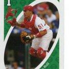 CARLOS RUIZ 2010 Uno Card Game GREEN-1 Philadelphia Phillies
