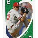 COLE HAMELS 2010 Uno Card Game GREEN-2 Philadelphia Phillies