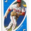 CHASE UTLEY 2010 Uno Card Game BLUE-3 Philadelphia Phillies