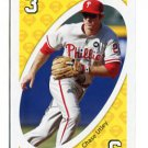 CHASE UTLEY 2010 Uno Card Game YELLOW-3 Philadelphia Phillies