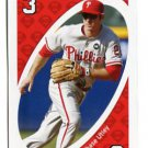 CHASE UTLEY 2010 Uno Card Game RED-3 Philadelphia Phillies