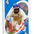 JIMMY ROLLINS 2010 Uno Card Game BLUE-4 Philadelphia Phillies
