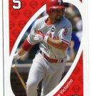SHANE VICTORINO 2010 Uno Card Game RED-5 Philadelphia Phillies HAWAII