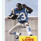 PAUL LOWE 2009 Topps Flash Back INSERT #FB6 Los Angeles LA Chargers