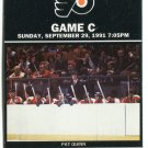 PW) CAPITALS @ FLYERS Sept. 29, 1991 - 9/29/1991 Ticket Stub featuring PAT QUINN