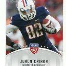 JURON CRINER 2012 Leaf Young Stars #47 ROOKIE Arizona Wildcats RAIDERS WR