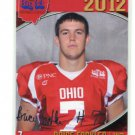 BRICE FACKLER 2012 Big 33 OH High School Facsimile AUTO card KENT STATE TE / WR