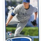 BRAD BRACH 2012 Topps #637 ROOKIE Padres