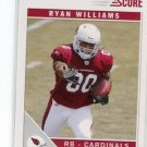 RYAN WILLIAMS 2011 Score #387 ROOKIE Cardinals VIRGINIA TECH Hokies