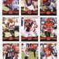 (9) Cincinnati BENGALS 2012 Topps Base TEAM Lot: AJ Green, Dalton, Bengarvis, more