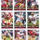 (15) 49ers 2012 Topps Base TEAM Lot: Manningham, Gore, Jacobs, Crabtree, Davis, more