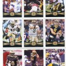 (13) SAINTS 2012 Topps Base TEAM Lot: Brees, Sproles, Ingram, Vilma, Graham, more