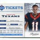 DeVIER POSEY 2012 Panini Prestige Tickets #17 ROOKIE Texans OHIO STATE Buckeyes