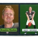 BRANDON WEEDEN 2012 Topps Chrome 1957 Throwback ROOKIE INSERT Browns OKLAHOMA STATE Cowboys QB