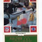 CHRIS BAHR 1986 McDonald's Raiders Green Tab UNSCRATCHED #10  Penn State Nittany Lions RAIDERS