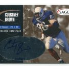 COURTNEY BROWN 2001 Sage Gold #A4 AUTO ROOKIE Penn State Nittany Lions BROWNS #d/365