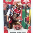 MICHAEL ROBINSON 2008 Score Super Bowl XLIII Red PROMO #272 49ers PENN STATE Nittany Lions