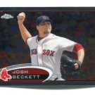 JOSH BECKETT 2012 Topps Chrome #115 Boston Red Sox
