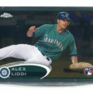 ALEX LIDDI 2012 Topps Chrome #152 ROOKIE Mariners