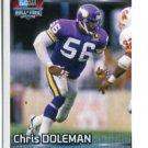 CHRIS DOLEMAN 2012 Panini Sticker Hall of Fame #491 Vikings