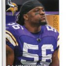 E.J. EJ HENDERSON 2012 Panini Sticker #334 Vikings MARYLAND Terps