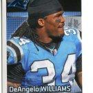 DeANGELO WILLIAMS 2012 Panini Sticker #358 Carolina Panthers
