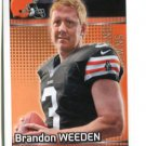 BRANDON WEEDEN 2012 Panini Sticker #99 ROOKIE Browns OKLAHOMA STATE Cowboys QB