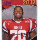 JASOIN STARGEL 2012 Big 33 OH High School Facsimile AUTO card AKRON Zips