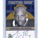 JARIOUS JACKSON 2007 TK Legacy AUTO #FI64 Notre Dame Irish 1996-99 QB