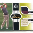 FRED COUPLES 2012 SP Game Used Edition #TG-FC DUAL SHIRT 4-color Relic