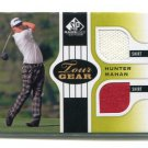 HUNTER MAHAN 2012 SP Game Used Edition #TG-HM DUAL SHIRT 2-color Relic