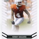 KENNY VACCARO 2013 Leaf Draft #92 ROOKIE Texas Longhorns SAINTS SAFETY Quantity